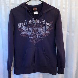 Harley Davidson Woman's zip up purple Eureka Ca